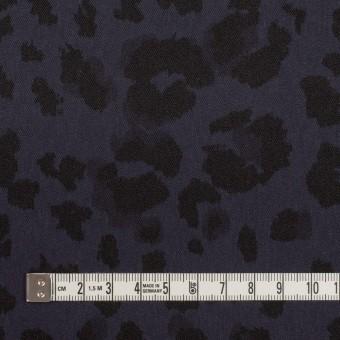 ポリエステル×レオパード(ネイビー)×サテン_全2色 サムネイル4
