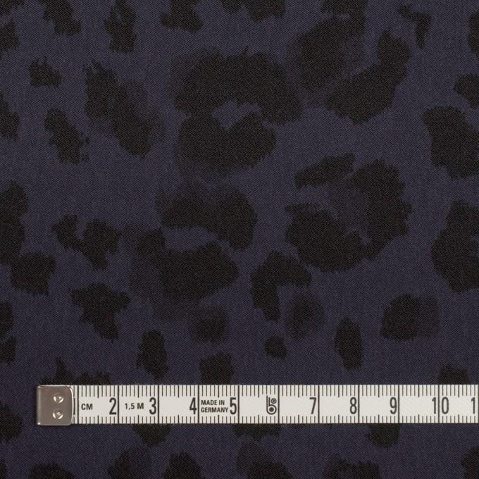 ポリエステル×レオパード(ネイビー)×サテン_全2色 イメージ4