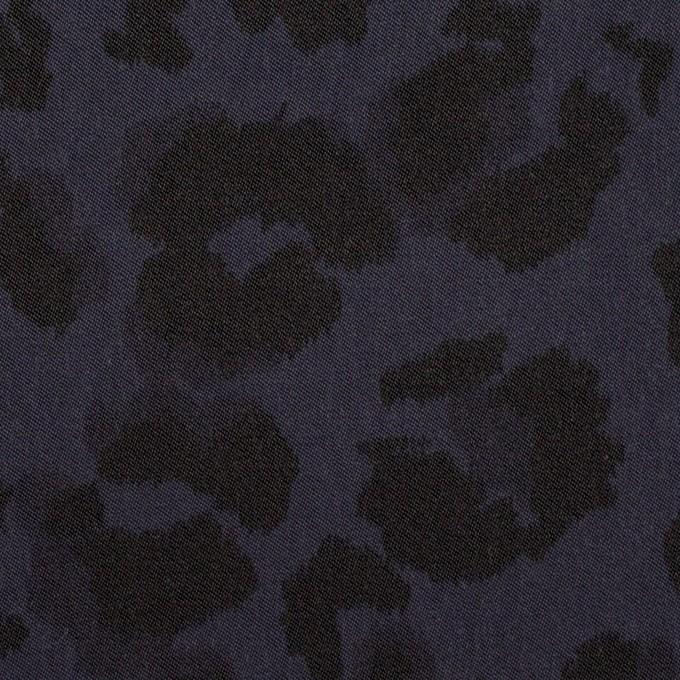 ポリエステル×レオパード(ネイビー)×サテン_全2色 イメージ1