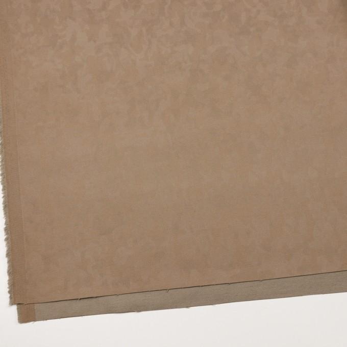 コットン&レーヨン混×幾何学模様(カーキベージュ)×ジャガード・ストレッチ イメージ2