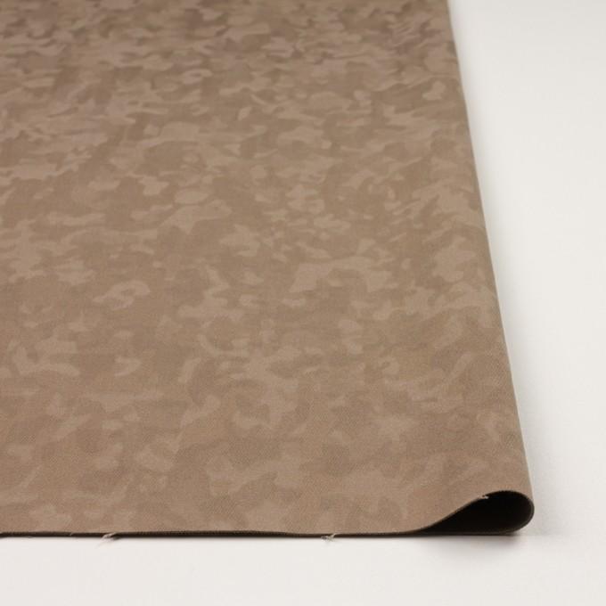 コットン&レーヨン混×幾何学模様(カーキベージュ)×ジャガード・ストレッチ イメージ3
