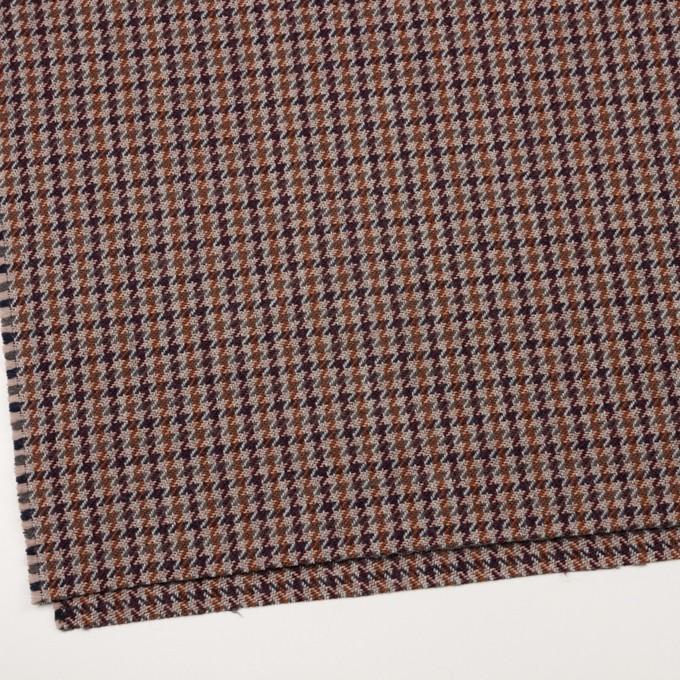 ウール&アクリル混×チェック(グレー、バーガンディー&レンガ)×ツイード イメージ2