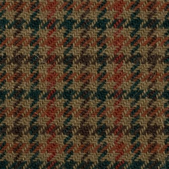 ウール×チェック(カーキ、レンガ&モスグリーン)×ツイード サムネイル1