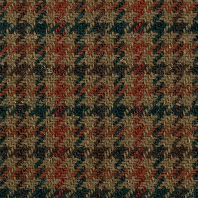 ウール×チェック(カーキ、レンガ&モスグリーン)×ツイード イメージ1
