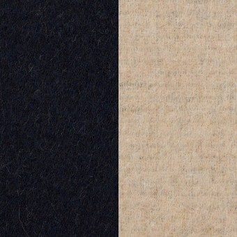 ウール&アクリル混×無地(ダークネイビー&エクリュ)×Wフェイス・フリース サムネイル1