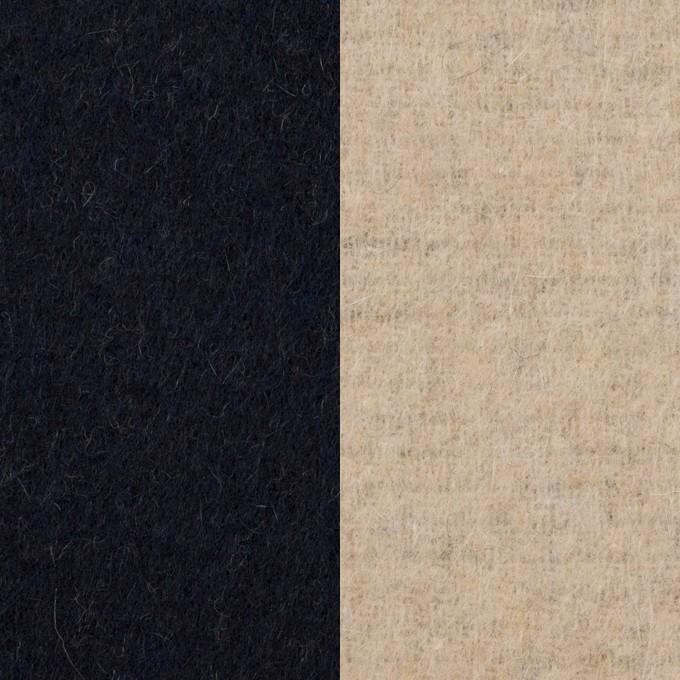 ウール&アクリル混×無地(ダークネイビー&エクリュ)×Wフェイス・フリース イメージ1