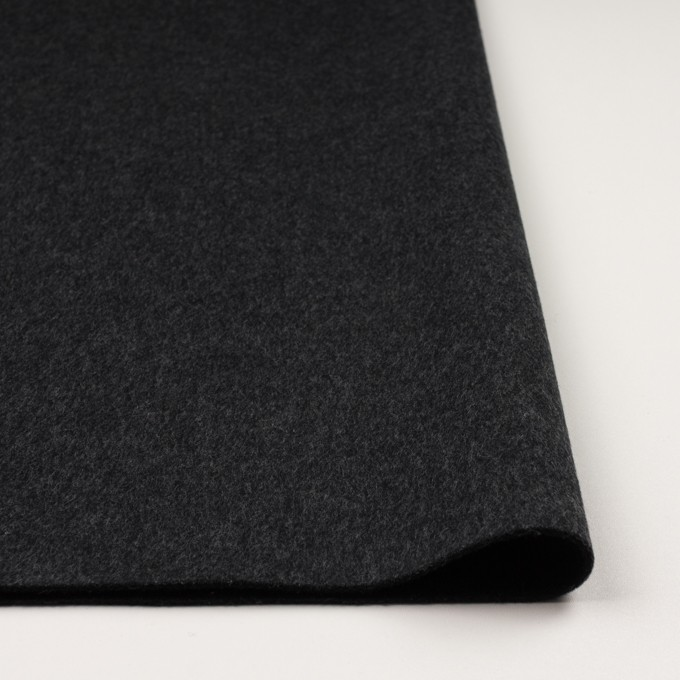 ウール&カシミア×無地(チャコールグレー&ブラック)×Wフェイス・ビーバー イメージ3