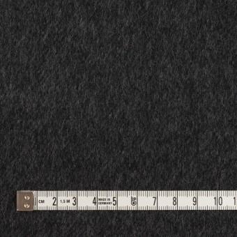 ウール&カシミア×無地(チャコールグレー&ブラック)×Wフェイス・ビーバー サムネイル4