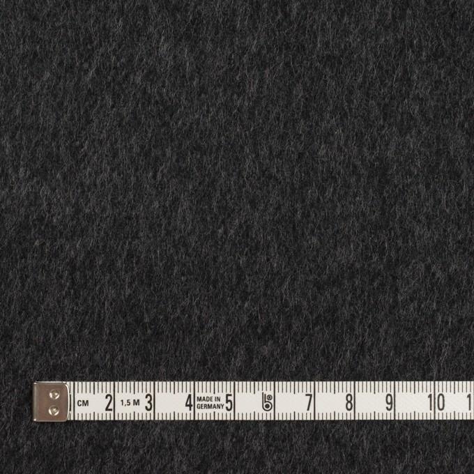 ウール&カシミア×無地(チャコールグレー&ブラック)×Wフェイス・ビーバー イメージ4