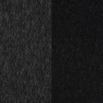 ウール&カシミア×無地(チャコールグレー&ブラック)×Wフェイス・ビーバー サムネイル1