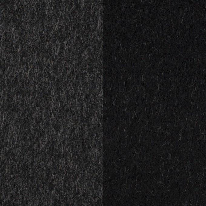 ウール&カシミア×無地(チャコールグレー&ブラック)×Wフェイス・ビーバー イメージ1