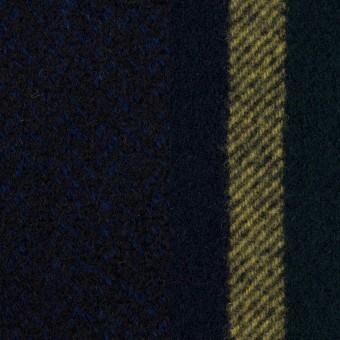 ウール×ミックス&ストライプ(ミッドナイトブルー、ネイビー&モスグリーン、イエロー)×ツイード&フラノ(Wフェイス) サムネイル1