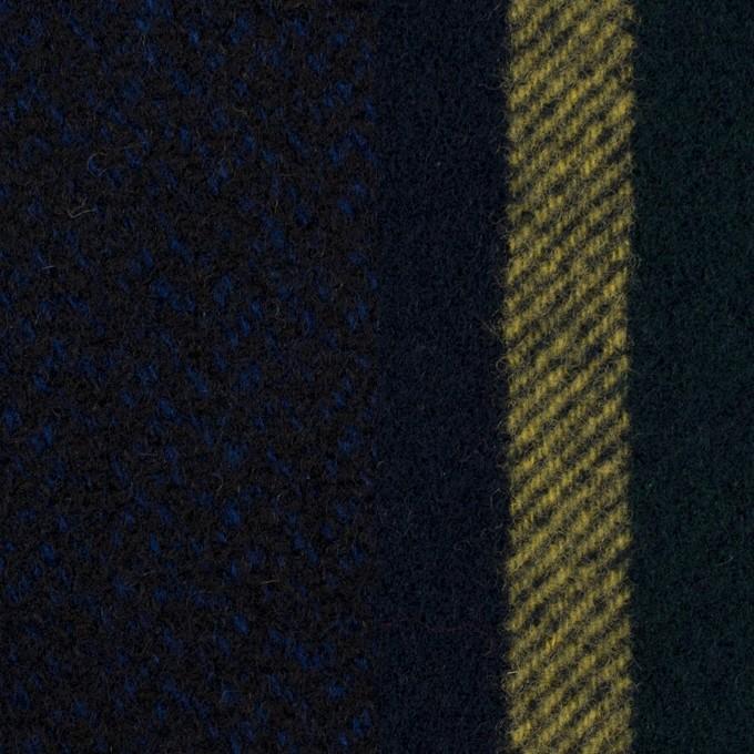 ウール×ミックス&ストライプ(ミッドナイトブルー、ネイビー&モスグリーン、イエロー)×ツイード&フラノ(Wフェイス) イメージ1
