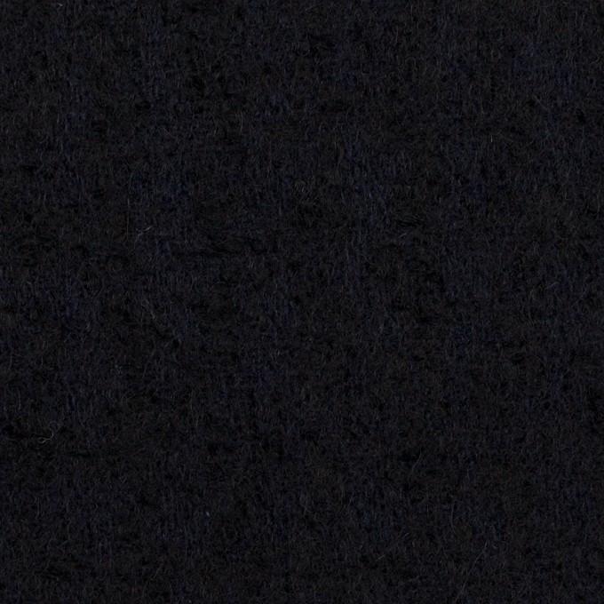 ウール×無地(ダークネイビー)×ファンシーツイード イメージ1