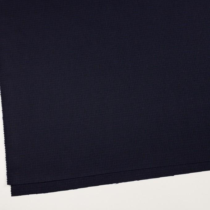 ウール×チェック(プルシアンブルー&ブラック)×サージ イメージ2
