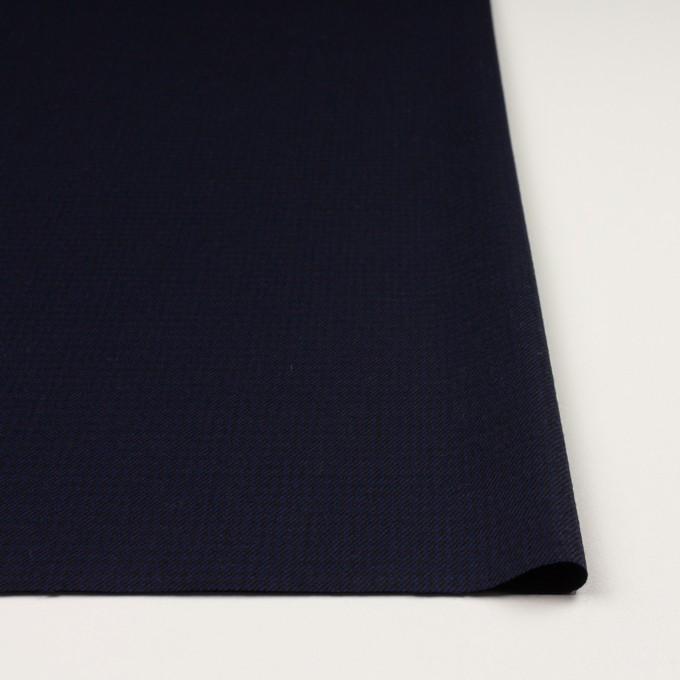ウール×チェック(プルシアンブルー&ブラック)×サージ イメージ3
