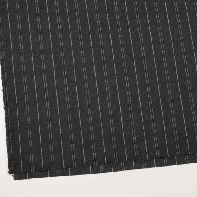 ウール×ストライプ(チャコールグレー&ブルーグレー)×ポプリン イメージ2