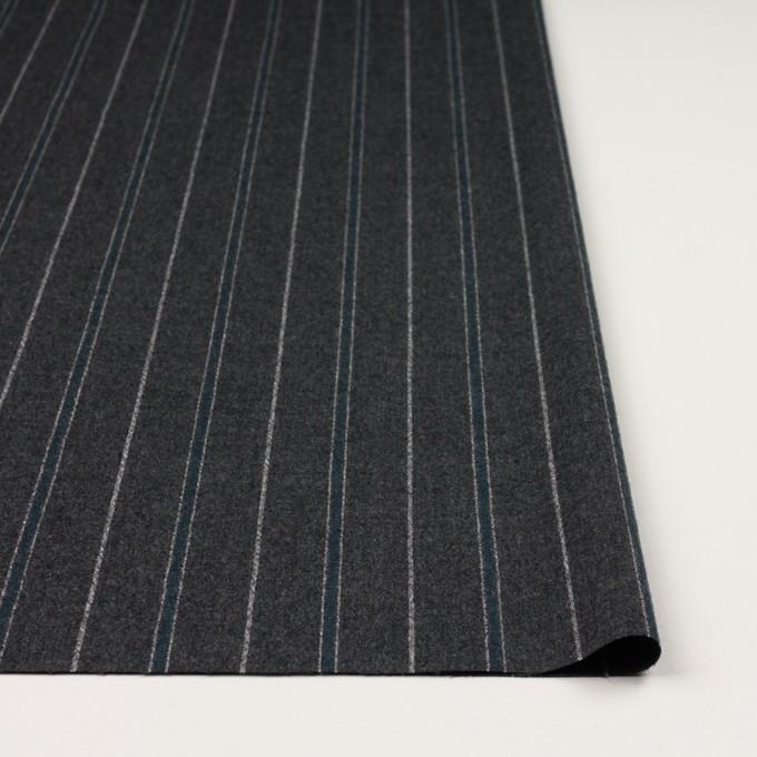 ウール×ストライプ(チャコールグレー&ブルーグレー)×ポプリン イメージ3