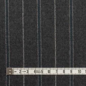 ウール×ストライプ(チャコールグレー&ブルーグレー)×ポプリン サムネイル4