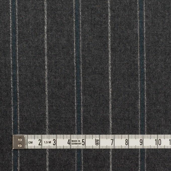 ウール×ストライプ(チャコールグレー&ブルーグレー)×ポプリン イメージ4