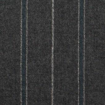 ウール×ストライプ(チャコールグレー&ブルーグレー)×ポプリン サムネイル1