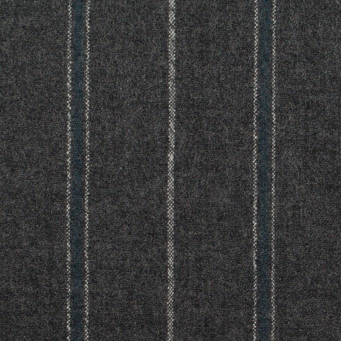 ウール×ストライプ(チャコールグレー&ブルーグレー)×ポプリン イメージ1