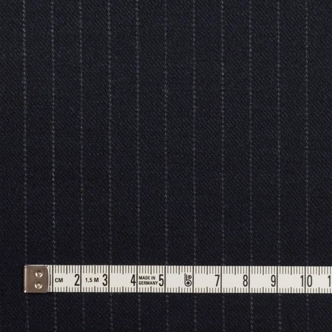 ウール×ストライプ(ダークネイビー)×サージ イメージ4