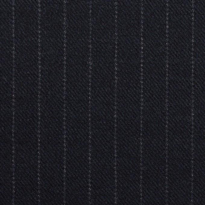 ウール×ストライプ(ダークネイビー)×サージ イメージ1