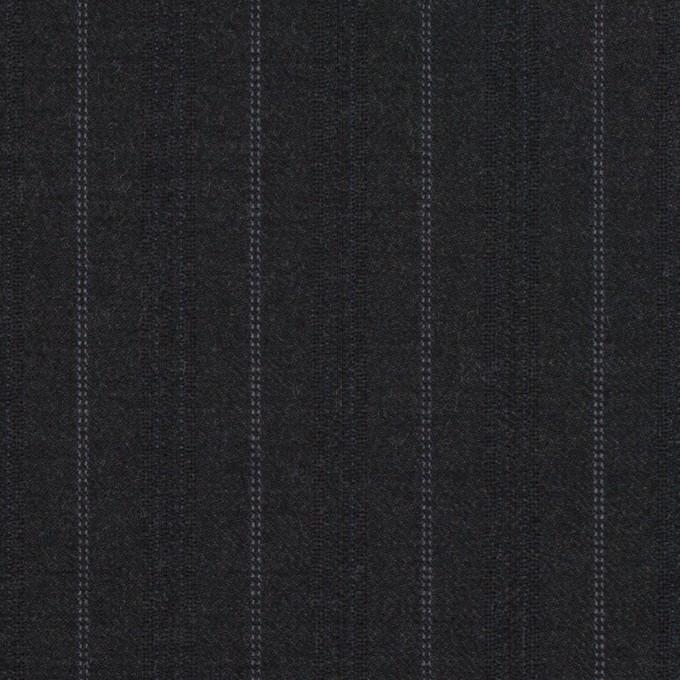 ウール×ストライプ(チャコール)×ドビーサージ イメージ1