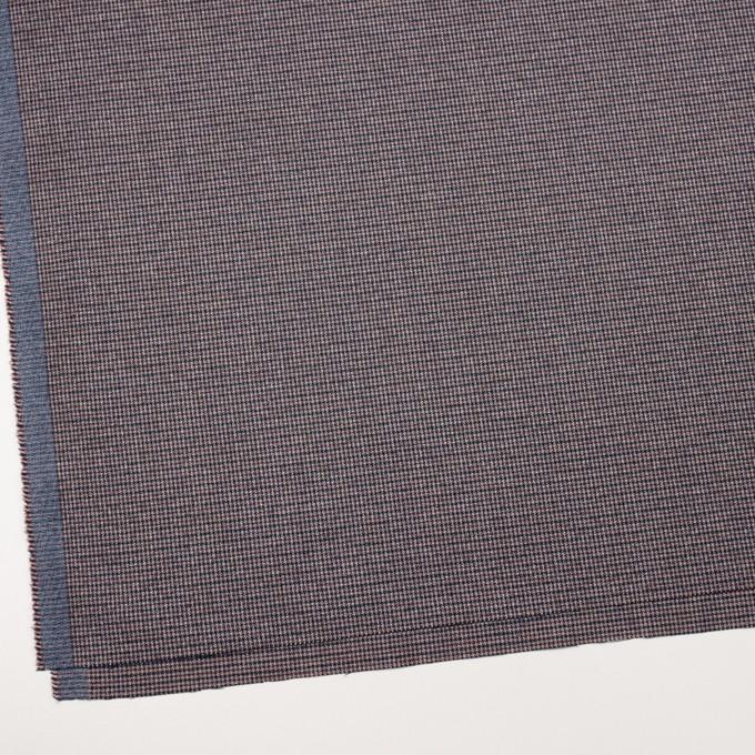 コットン&ポリウレタン×千鳥格子(バーガンディー&ネイビー)×フランネル_全3色_イタリア製 イメージ2
