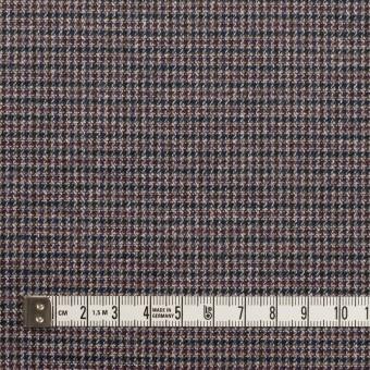 コットン&ポリウレタン×千鳥格子(バーガンディー&ネイビー)×フランネル_全3色_イタリア製 サムネイル4