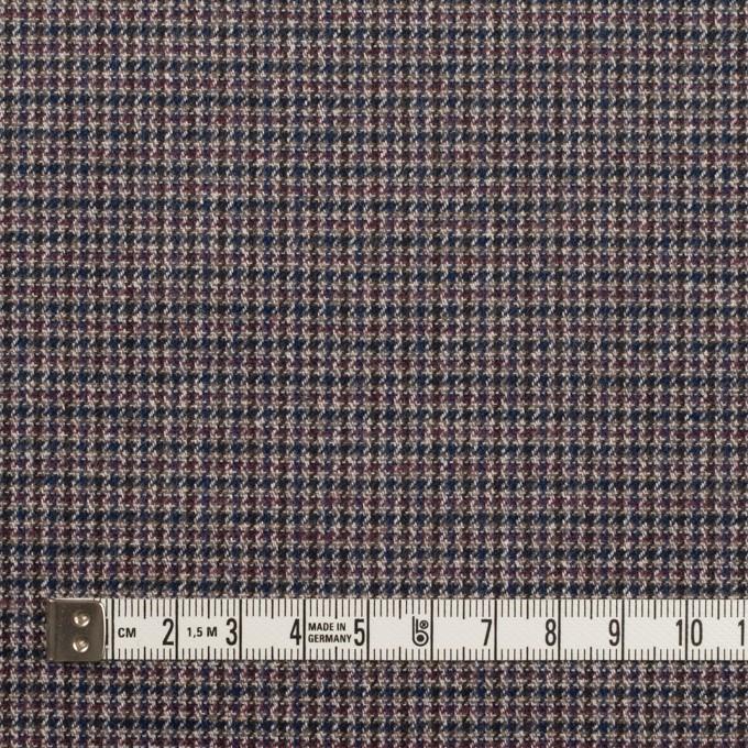 コットン&ポリウレタン×千鳥格子(バーガンディー&ネイビー)×フランネル_全3色_イタリア製 イメージ4