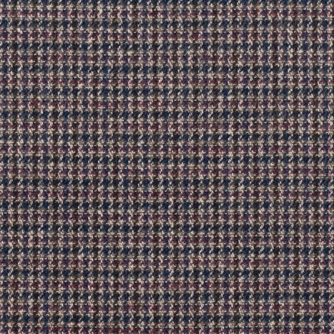 コットン&ポリウレタン×千鳥格子(バーガンディー&ネイビー)×フランネル_全3色_イタリア製 イメージ1
