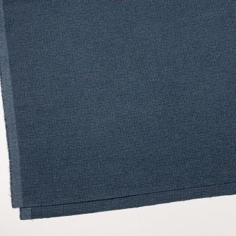 コットン&ポリウレタン×千鳥格子(ブルー&ネイビー)×フランネル_全3色_イタリア製 サムネイル2