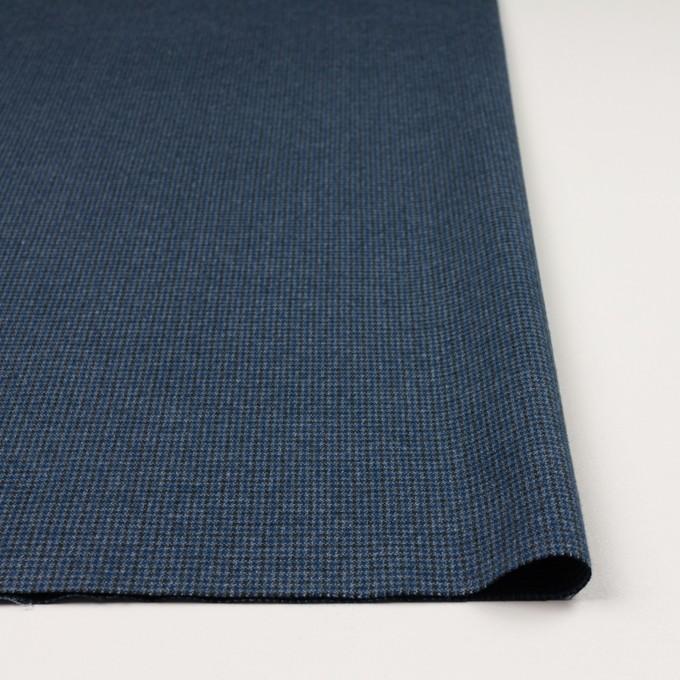 コットン&ポリウレタン×千鳥格子(ブルー&ネイビー)×フランネル_全3色_イタリア製 イメージ3