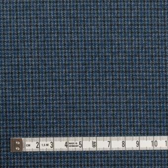 コットン&ポリウレタン×千鳥格子(ブルー&ネイビー)×フランネル_全3色_イタリア製 サムネイル4