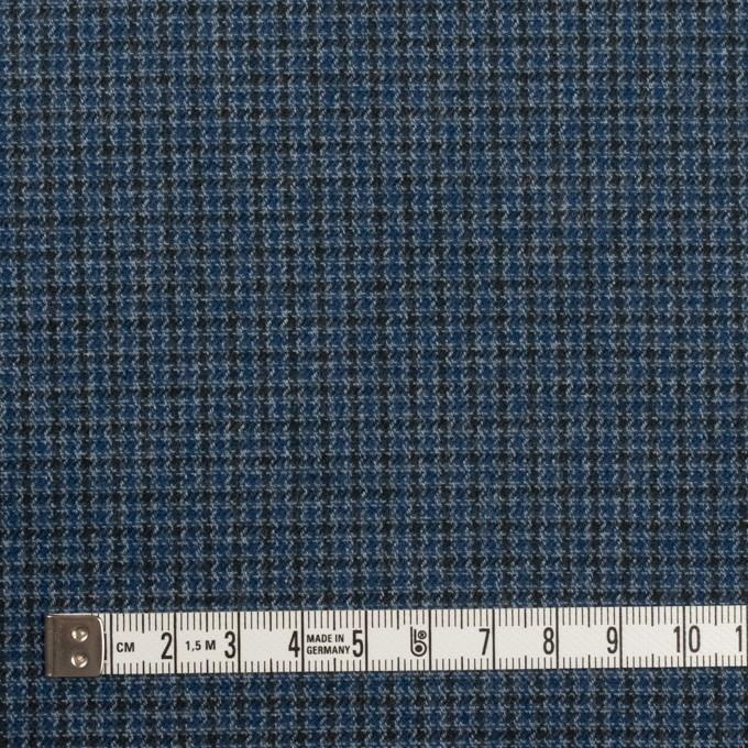 コットン&ポリウレタン×千鳥格子(ブルー&ネイビー)×フランネル_全3色_イタリア製 イメージ4