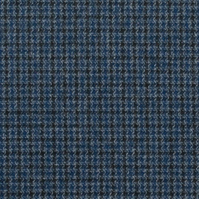 コットン&ポリウレタン×千鳥格子(ブルー&ネイビー)×フランネル_全3色_イタリア製 イメージ1