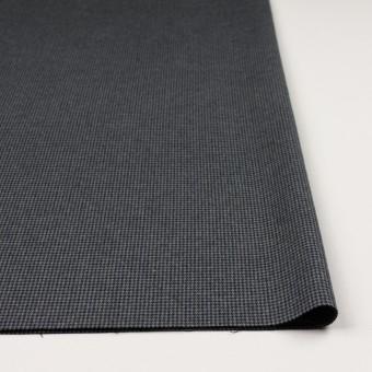 コットン&ポリウレタン×千鳥格子(グレー&ネイビー)×フランネル_全3色_イタリア製 サムネイル3