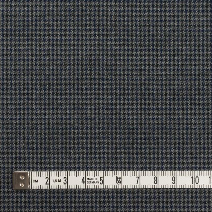コットン&ポリウレタン×千鳥格子(グレー&ネイビー)×フランネル_全3色_イタリア製 イメージ4