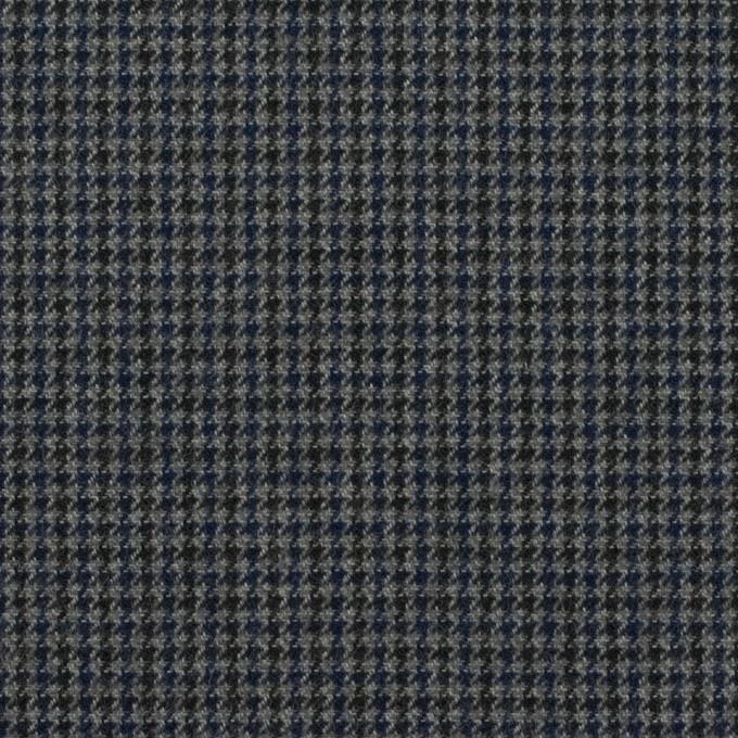 コットン&ポリウレタン×千鳥格子(グレー&ネイビー)×フランネル_全3色_イタリア製 イメージ1