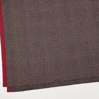 コットン&ポリウレタン×チェック(モカブラウン)×フランネル_全2色_イタリア製 サムネイル2