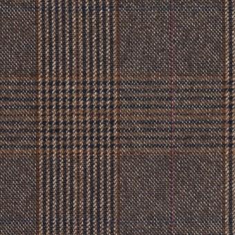 コットン&ポリウレタン×チェック(モカブラウン)×フランネル_全2色_イタリア製 サムネイル1