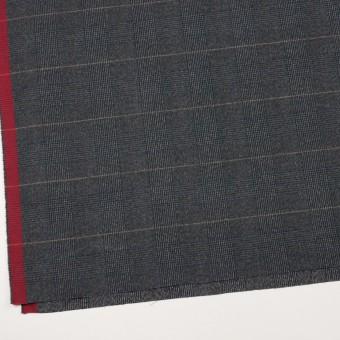 コットン&ポリウレタン×チェック(チャコールグレー)×フランネル_全2色_イタリア製 サムネイル2