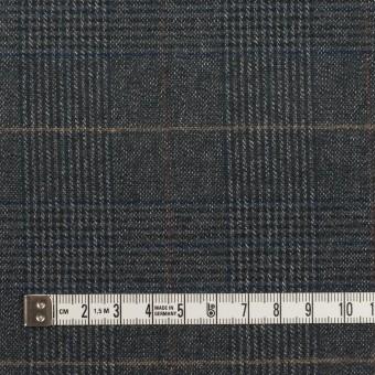 コットン&ポリウレタン×チェック(チャコールグレー)×フランネル_全2色_イタリア製 サムネイル4