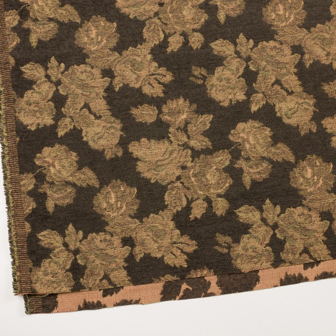 アクリル&ポリエステル混×フラワー(カーキ)×ゴブラン織 イメージ2