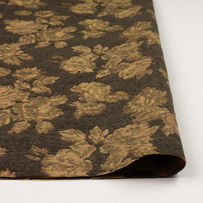 アクリル&ポリエステル混×フラワー(カーキ)×ゴブラン織 イメージ3