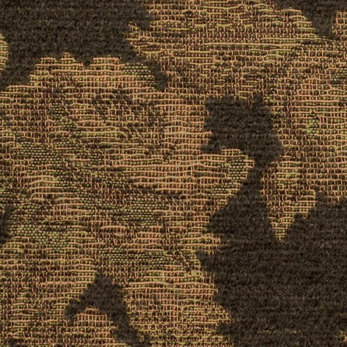 アクリル&ポリエステル混×フラワー(カーキ)×ゴブラン織 イメージ1