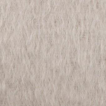 モヘア&ウール×無地(パールグレー)×シャギー サムネイル1