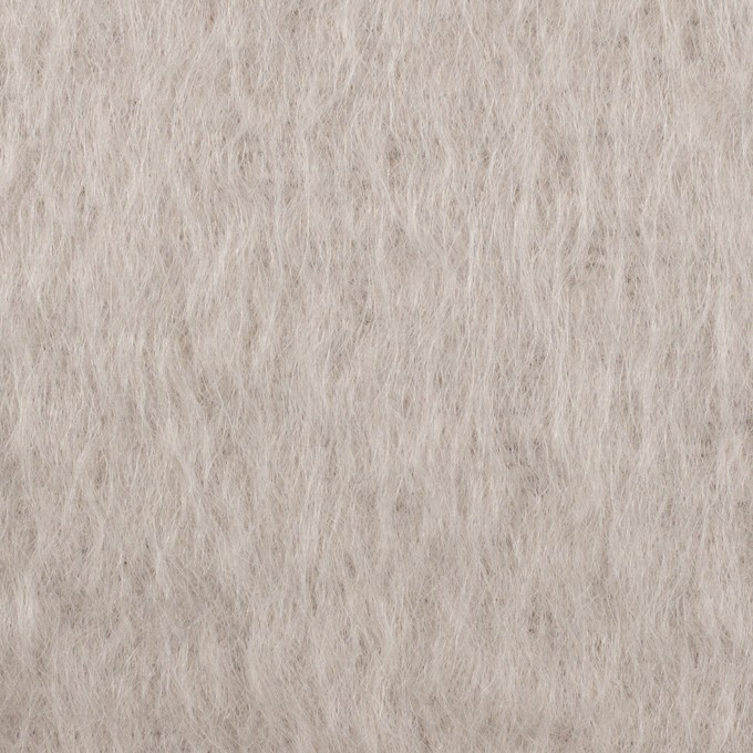 モヘア&ウール×無地(パールグレー)×シャギー イメージ1